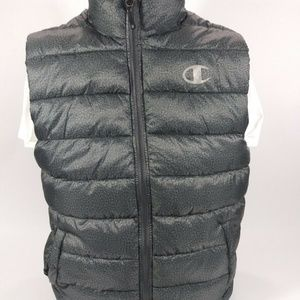 Champion Puffer Vest Mens Size M Granite